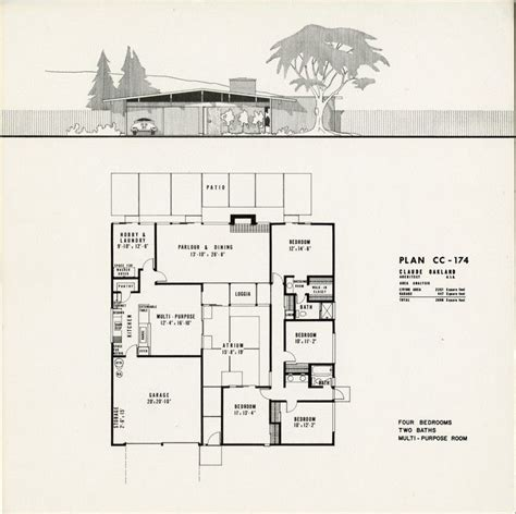 joseph eichler floor plans 170 best images about eichler homes on