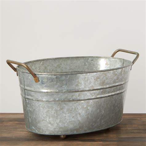 galvanized home decor vintage inspired galvanized wash tub baskets buckets