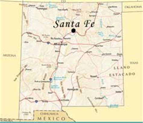 New Mexico The 47th State by Usa Geography Quizzes Map
