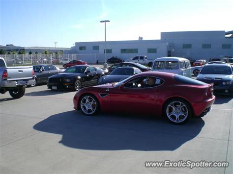 alfa romeo 8c spotted in dallas on 07 02 2011