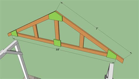 How To Build Trusses For A Garage by Woodwork Carport Rafter Design Pdf Plans