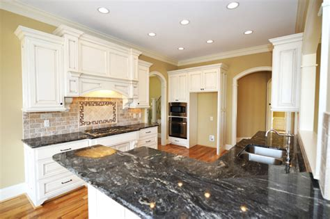 White Kitchen Cabinets With Black Granite Kimboleeey White Kitchen Cabinets With Granite Countertops