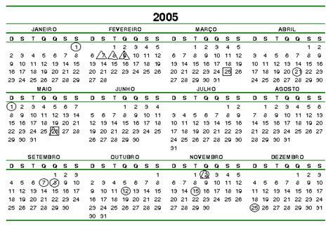 Calendario Agosto 2005 Feriado 01 2005