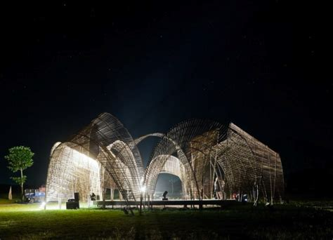 pavillon forst airy forest pavilion in taiwan is made from a series of