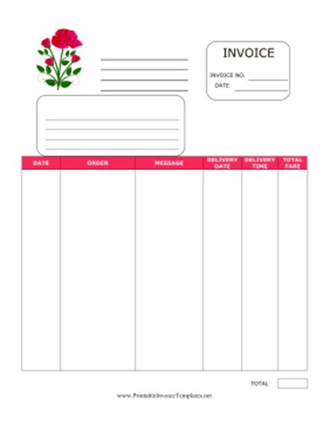 Florist Invoice Template florist invoice template