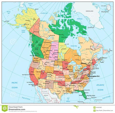 maps united states map  canada maps   world