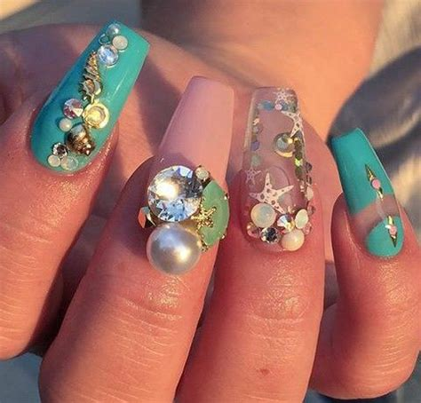 aquarium design nail art a cool nail art for summer aquarium nails