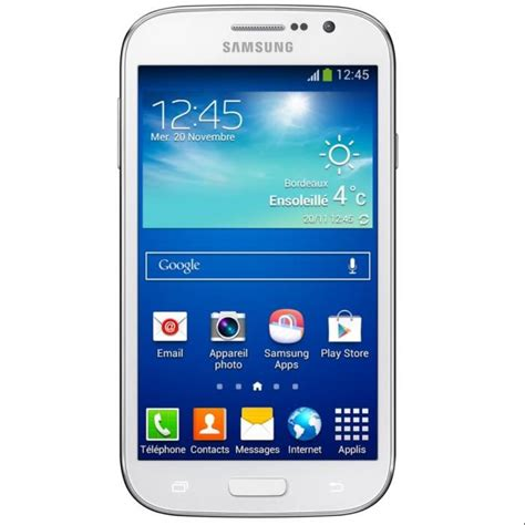 mobile samsung grand samsung galaxy grand plus blanc achat smartphone pas