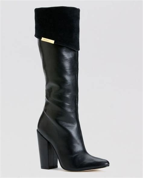 calvin klein boots averie high heel in black lyst