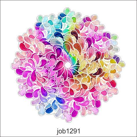 imagenes de mandalas coloridas adesivo decorativo parede mandala flores coloridas job1291