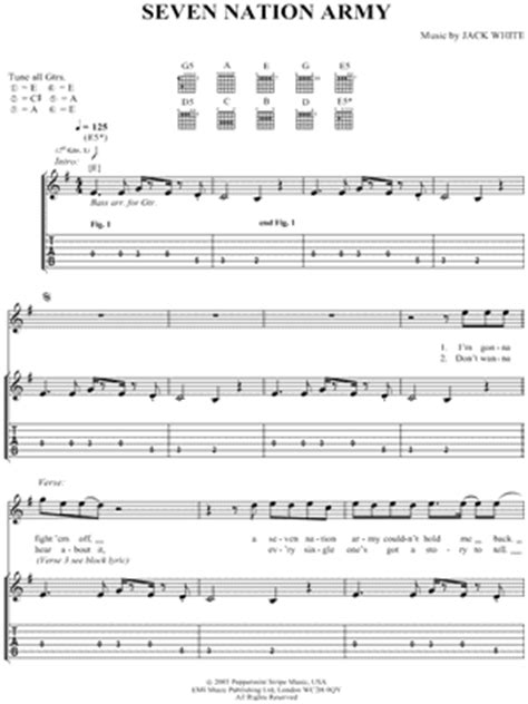 drum tutorial seven nation army 7 nation army partition piano cours de gratte