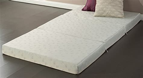 twin 4 inch memory foam mattress pad sleep master tri fold