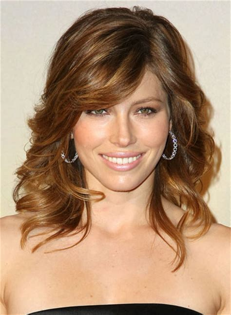 medium hairstyles with bangs riot