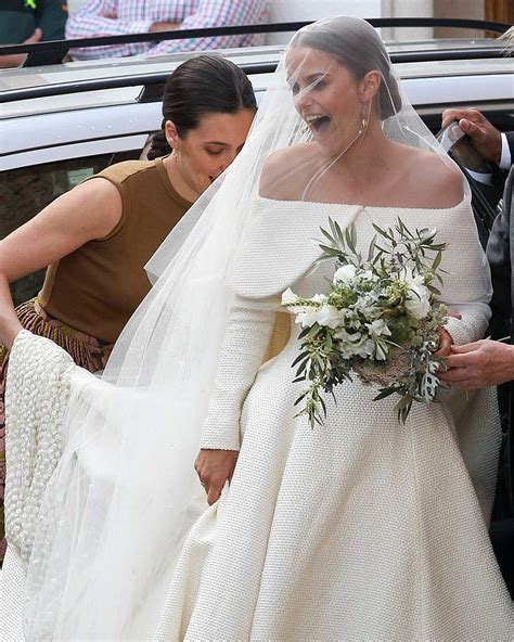 Lady Charlotte Wellesley marries in Emilia Wickstead wedding dress   Fashion Quarterly