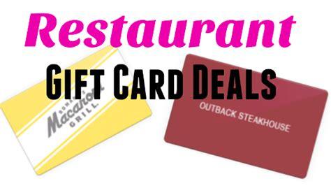 Half Price Restaurant Gift Cards - restaurant gift card deals my dallas mommy