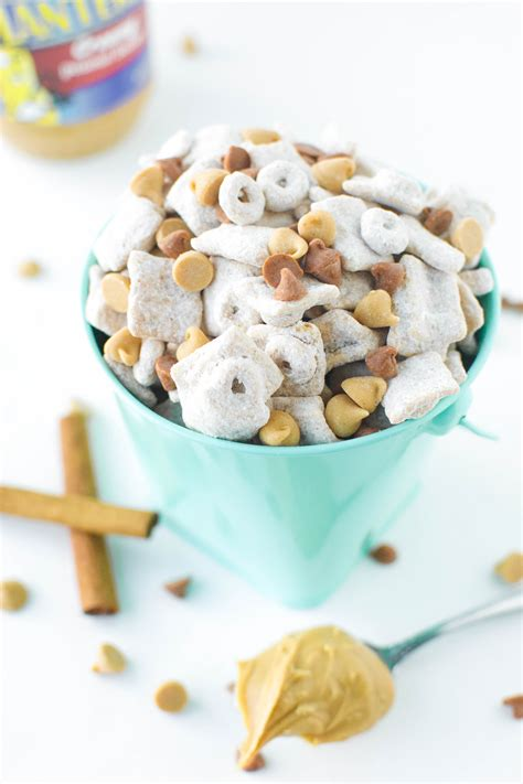 puppy chow recipe with peanut butter peanut butter snickerdoodle puppy chow a bajillian recipes