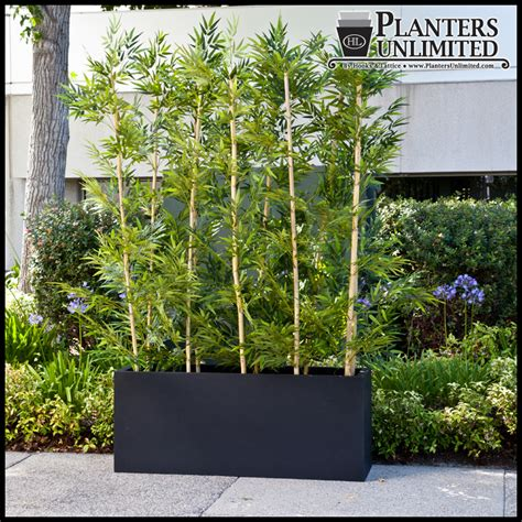 Rail Planter Box by Outdoor Artificial Bamboo In Modern Planters Planters