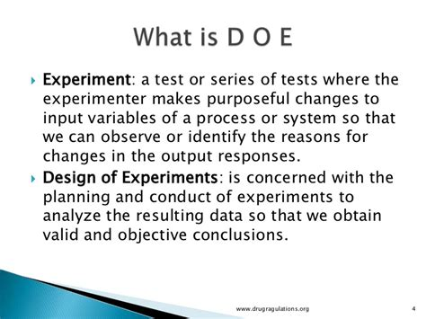 design of experiments quality by design design of experiments