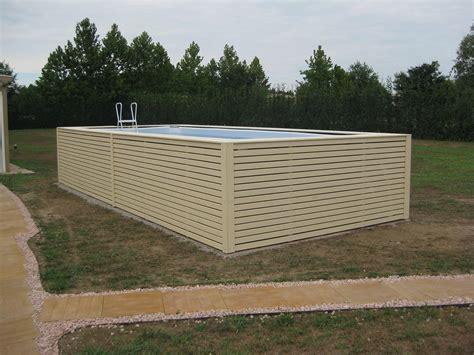 piscine fuori terra rivestite in legno piscina fuori terra con rivestimento in legno di abete prezzi