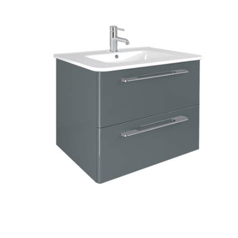 grey gloss bathroom vanity unit mara gloss grey 60cm vanity unit 2 drawer