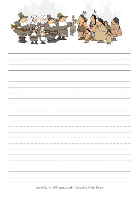 printable turkey stationery pilgrim writing paper