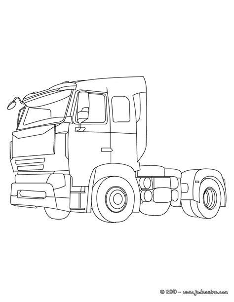 coloriages cabine de camion de livraison  colorier fr