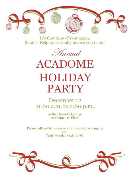 christmas party work flyers invites by hannah o
