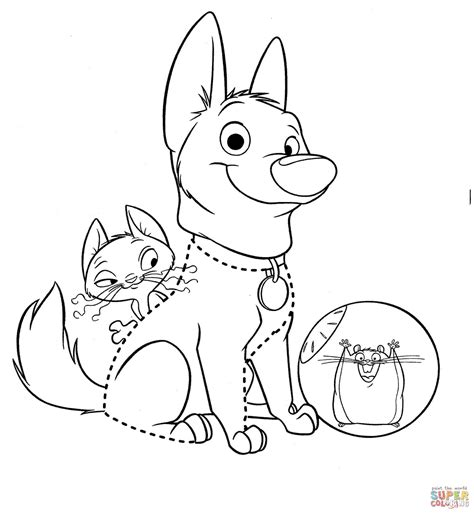 small mouse coloring page bolt with little mouse coloring page free printable
