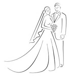 And Groom Outline Drawing by The Promise Like Blood