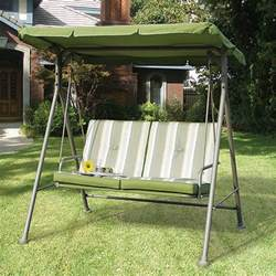 Porch Swings Home Depot Walmart Double Seat Cushion Replacement Swing Canopy