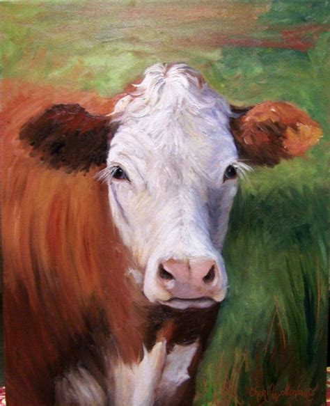scow paintings cow painting of hazel original oil painting