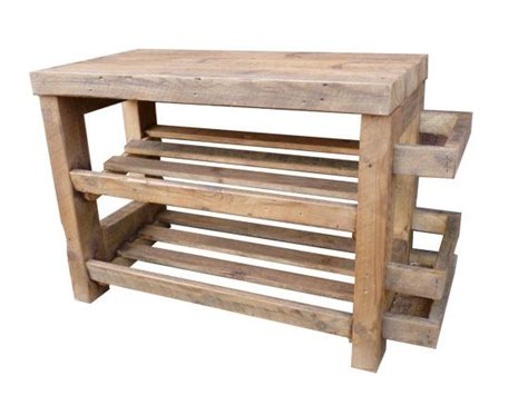 Wooden Shoe Rack With Seat by Rustic Shoe Rack With Seat And Umbrella Stand Wooden Shoe