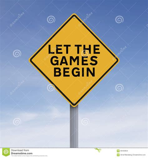 Let The Begin by Let The Begin Stock Photo Image 56403954