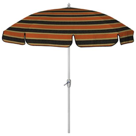 7 ft 6 in floral striped black patio umbrella