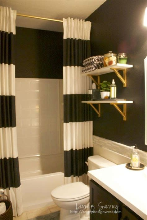 living savvy  house black white guest bath reveal