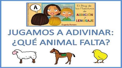 imagenes para pensar y adivinar jugamos a adivinar 191 qu 233 animal falta juego educativo