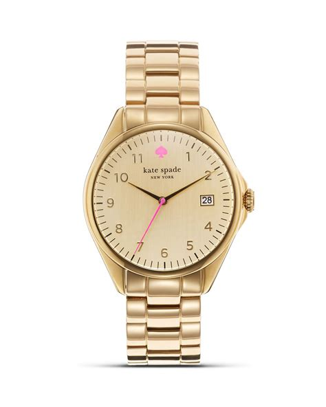 Kate Spade Gold Seaport Bracelet Watch 38mm in Gold   Lyst