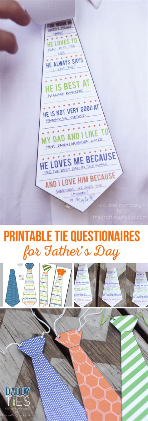printable fathers day ties ties free s day printable the crafting