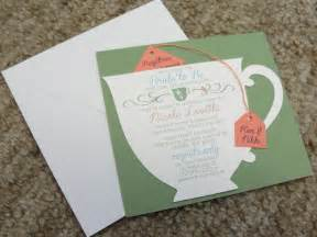 bridal shower tea cup invitation