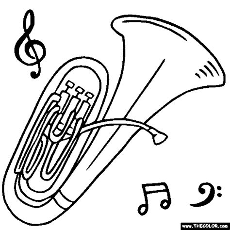 elementary music coloring pages tuba musical instrument coloring page tuba pinterest