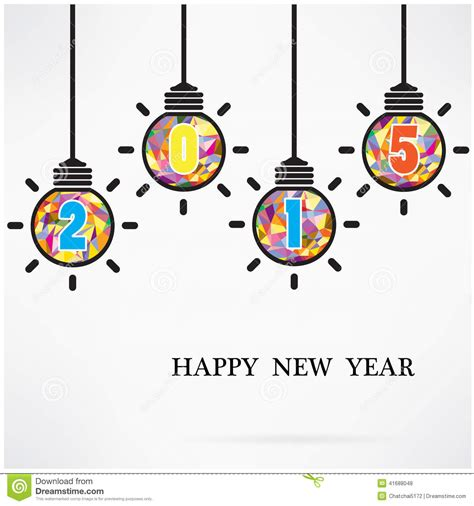 creative happy new year texts creative happy new year 2015 text design stock vector image 41688048