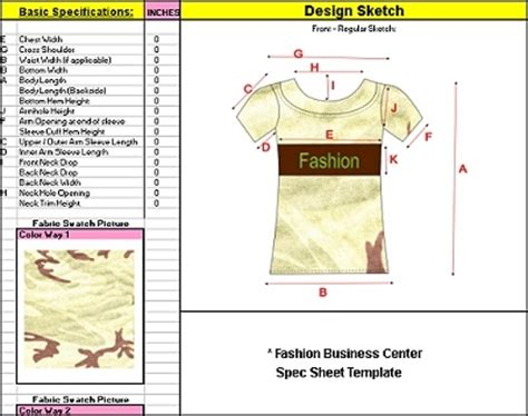 clothing line sheet template fashion business center cd