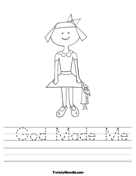 god made me coloring page bible lessons pinterest