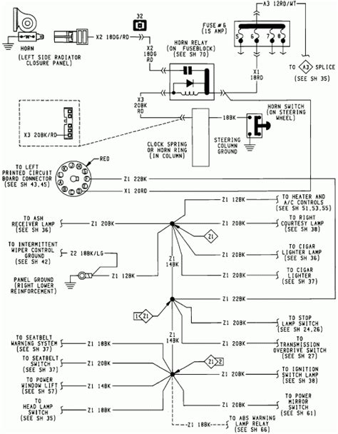 93 dodge headlight switch wiring diagram k