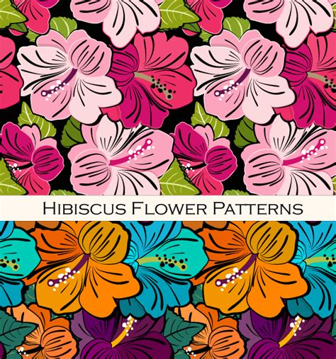 hawaii pattern photoshop free hibiscus flower pattern vector 123freevectors