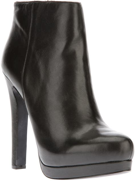 ash high heel ankle boot in black lyst