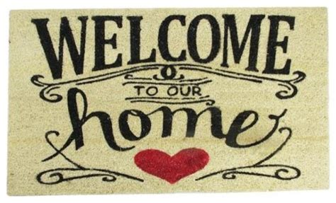 northlight quot welcome to our home quot outdoor doormat 30 quot x18 - Welcome To Our Home Doormat