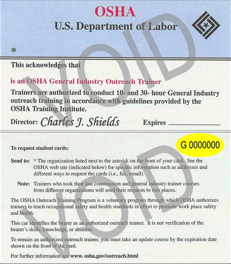 osha piv certification card template osha card creative safety supply