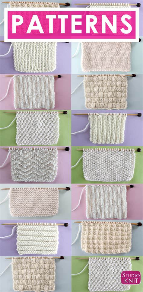 knit stitch show knit stitch patterns for absolute beginning knitters
