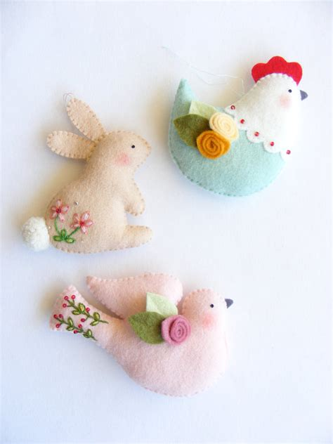 pin easter bunny patterns my on pinterest pdf pattern easter ornaments bunny hen and dove felt